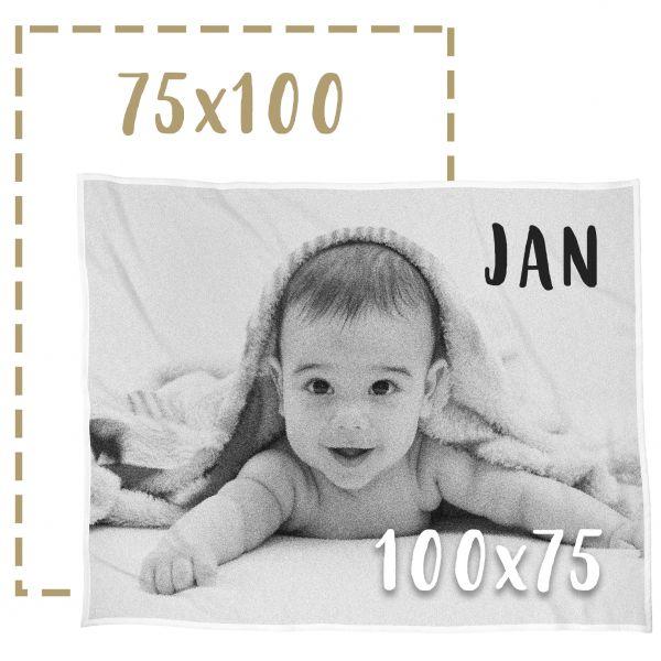 75x100 Babyfotodecke gestalten