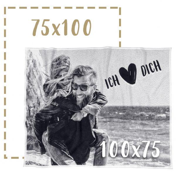 75x100 Fotodecke individuell gestalten