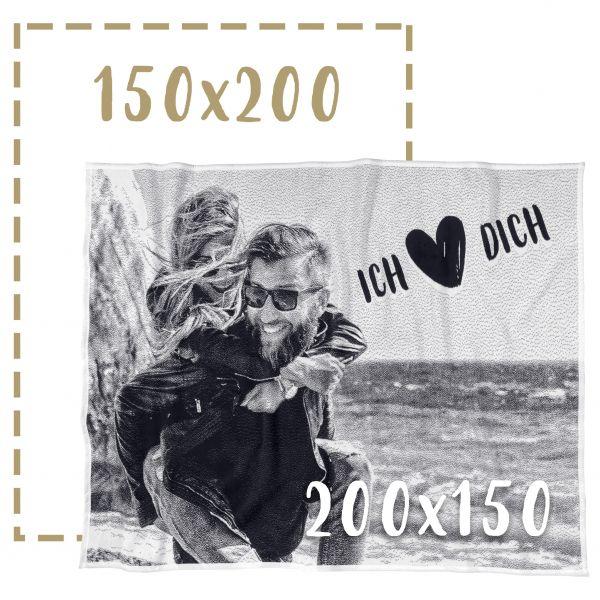 150x200 Fotodecke individuell gestalten