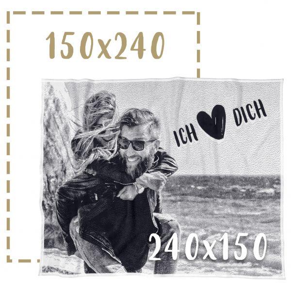 150x240 Fotodecke individuell gestalten