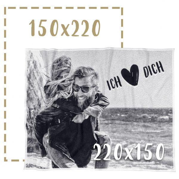 150x220 Fotodecke individuell gestalten