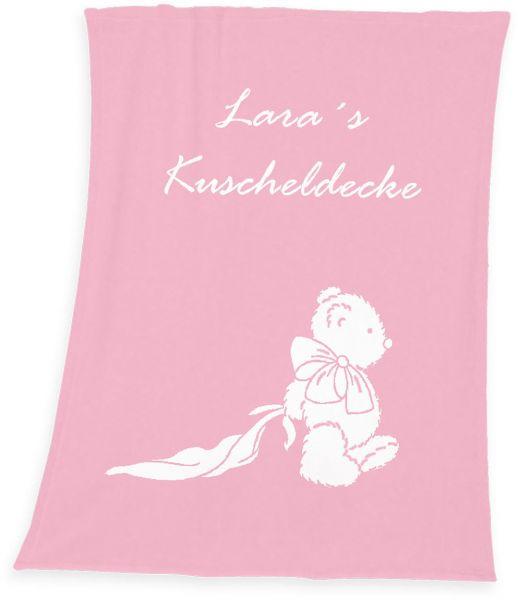 Baby Kuscheldecke mit Namen